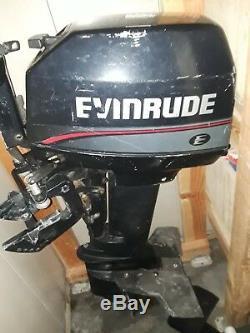 Johnson Evinrude 8 HP Horsepower 2 Stroke Overboard Motor Gas Engine