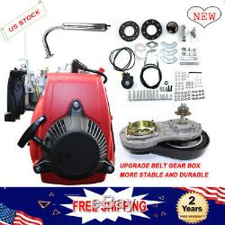 MOTORIZED BICYCLE ENGINE 49CC 4-Stroke GAS PETROL MOTOR Chain guard Quality UPS