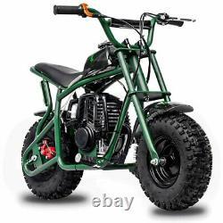 Mini Bike Dirt Bike Gas Operated Pull Start Four Stroke Engine Kids 7 & Up Green
