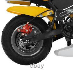 Mini Gas Power Pocket Bike Motorcycle 49cc 2-Stroke Engine Ride on Toys 40 km/h