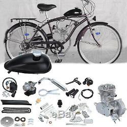 Motor 2-Stroke 50cc Petrol Gas Engine Kit For Motorized Bicycle Bike Silver