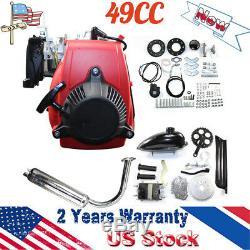 Motorized Bicycle 49CC 4-Stroke Gas Petrol Bike Engine Motor Kit 8500 Cooling