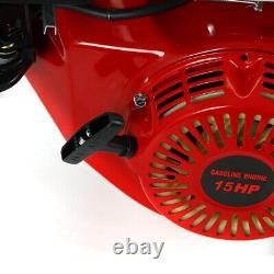 NEW 15HP 4 Stroke OHV Horizontal Gas Engine Go Kart Motor Recoil+Silencer 420CC