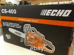 NEW ECHO CS-400 Gas Chainsaw with 18 Bar 40.2cc 2 Stroke G Force Engine