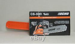 NEW ECHO CS-590 Gas Chainsaw 20 in. 59.8cc 2-Stroke Engine Timber Wolf