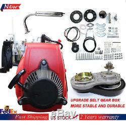 New 49CC 4-Stroke Gas Petrol Motorized Bicycle Bike Engine Motor Kit