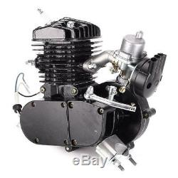New 80cc Petrol Gas Bike Motor Kit Black 2 Stroke Bicycle Motorized Engine New