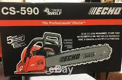 New ECHO CS-590 Gas Chainsaw 20 in. 59.8cc 2-Stroke Engine Timber Wolf Saw