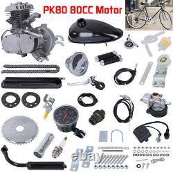 PK80 80cc 2-Stroke Bike Bicycle Motorized Petrol Gas Motor Engine Upgrade Kit US