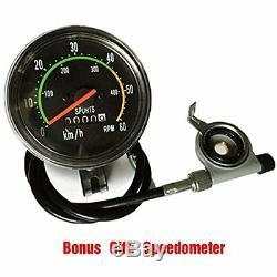 PK80 80cc Bicycle Engine Kit 2 Stroke Gas Motorized Bike Motor Speedometer