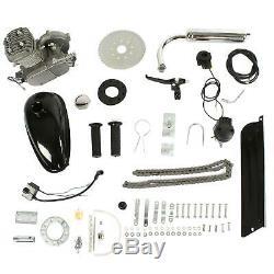 Pro 80cc Bike Bicycle Motorized 2 Stroke Petrol Gas Motor Engine Kit Set Silver