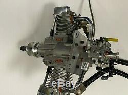 Really Nice Saito FG-57TS FG57TS 4 Four Stroke Gas 57cc Twin RC Airplane Engine