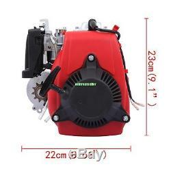 Red 49cc 4 Stroke Cycle Motor Kit Motorized Bike Petrol Gas Bicycle Engine