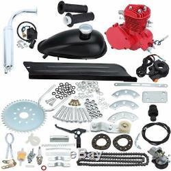 Red 80cc 2 Stroke Cycle Motor Kit Motorized Bike Petrol Gas Bicycle Engine Kit