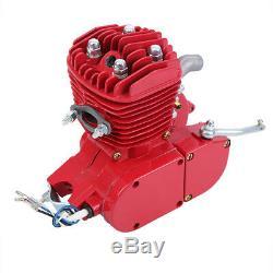 Red 80cc 2 Stroke Motor Engine Kit Set Fits Bike Bicycle Motorized Petrol Gas
