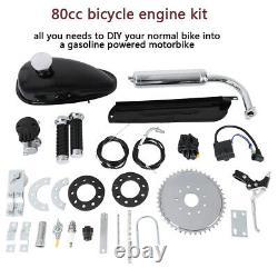 Red 80cc Bike 2 Stroke Gas Engine Motor Kit Motorized Bicycle MotorCycle