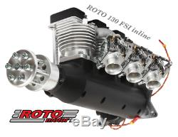 Roto Motor 130cc FS Gas / Petrol Inline Three Cylinder 4 Stroke Aircraft Engine