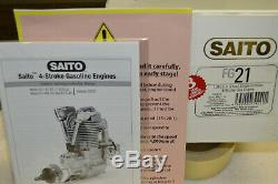 SAITO FG-21, 21 cc, 4 Stroke Gas Engine BRAND NEW