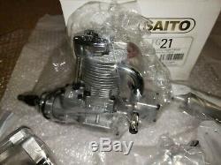 Saito Engine Saito FG 21 gas four stroke NIB
