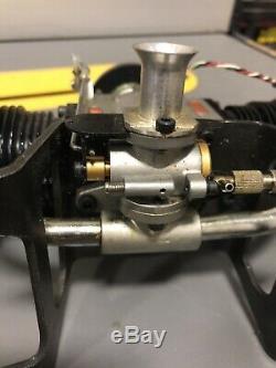 Saito FA-270T Twin GAS CONVERSION Engine 45cc 4 Stroke MK II Hemi-Heads