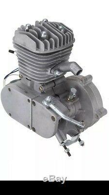 Silver 66cc 80cc 2 Stroke Bicycle Engine Kit Gas Motorized Bike NEW 2020 Model
