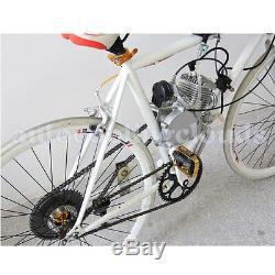 Silver 80cc 2 Stroke Bicycle Engine Kit Gas Motorized Bike Motor