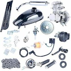Silver 80cc Bike 2 Stroke Gas Engine Motor Kit DIY for Motorized Bicycle