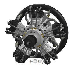 UMS 55cc Gas 5 Cylinder Radial 4 Stroke Engine