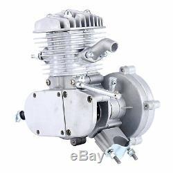 UPGRADED Silver 80cc 2 Stroke Bicycle Engine Kit Gas Motorized Bike Motor USA