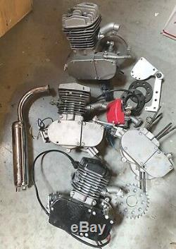 USED 80cc 2-stroke gas engine motor bike JUNK parts 3 engine 1 bottom end