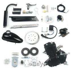 Universal Black 80cc Bike 2 Stroke Gas Engine Motor Kit DIY Motorized Bicycle