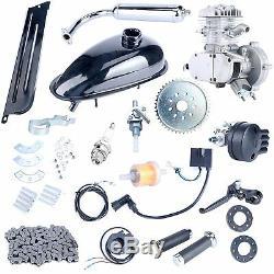 Upgraded Silver 2 Stroke 80cc Motorized Bicycle Cycle Bike Motor Gas Engine Kit