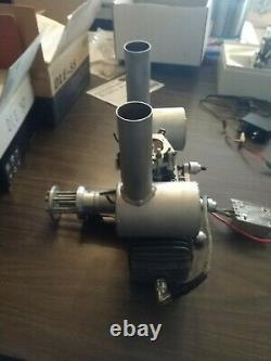 Used 3W RC Remote Control Airplane 150cc Gas Two Stroke Engine
